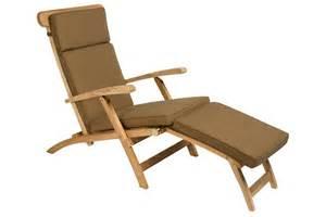 chaise longue pliante en teck massif steamer la galerie