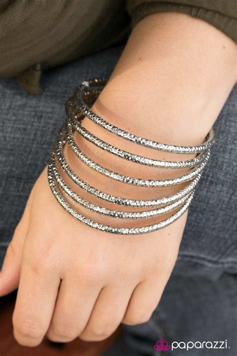 Paparazzi Accessories: Rough and Tough   Silver