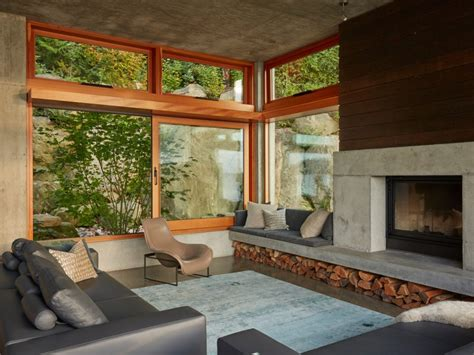 large living room windows window seat transom glass wall house large living room