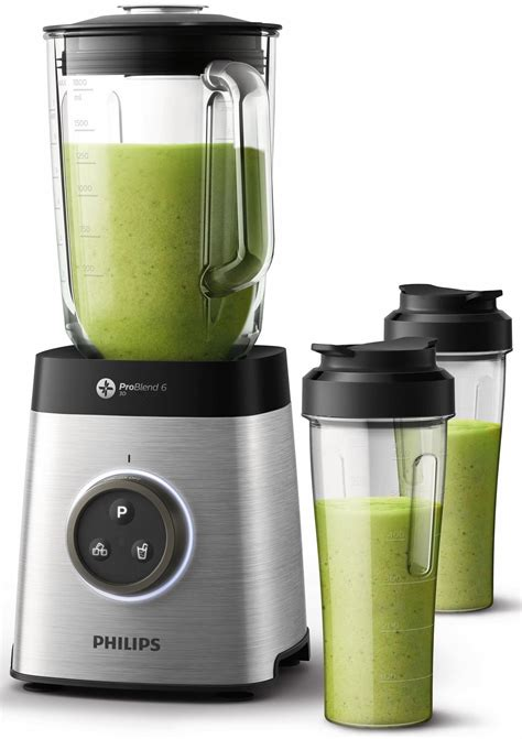 Blender Laboratorium philips high speed blender hr3655 00 avance collection 1400w 35 000 u min incl 2 drinkflessen