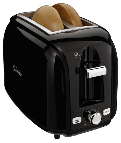 Slot Toaster sunbeam 174 2 slice wide slot black toaster