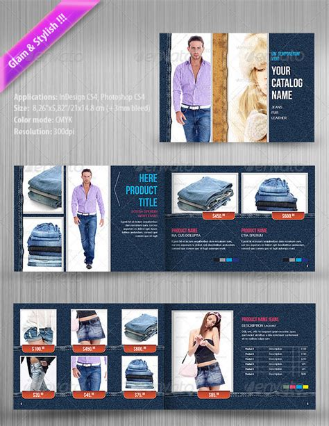 product layout psd professional catalog psd templates wakaboom