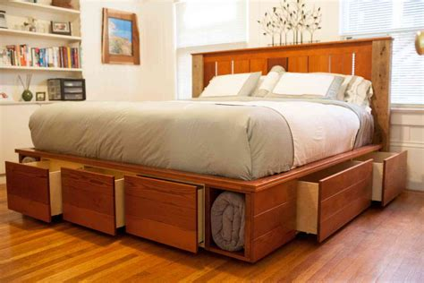 fabulous king size platform bed with storage also drawers