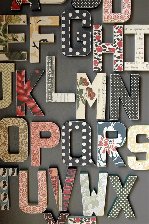 Alphabet Decor by Paper Lust Bowlin Studio Wall Alphabet Home Decor