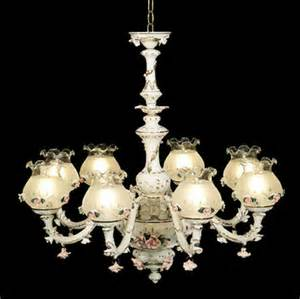 Capodimonte Chandelier Capodimonte Made In Italy Chandelier 8 Lights 8 Globes