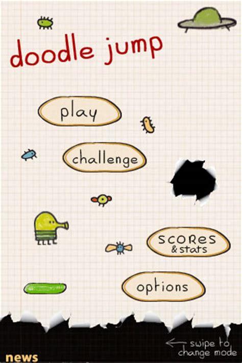 starting doodle doodle jump der doodel macht das iphone ipod zur h 252 pfburg
