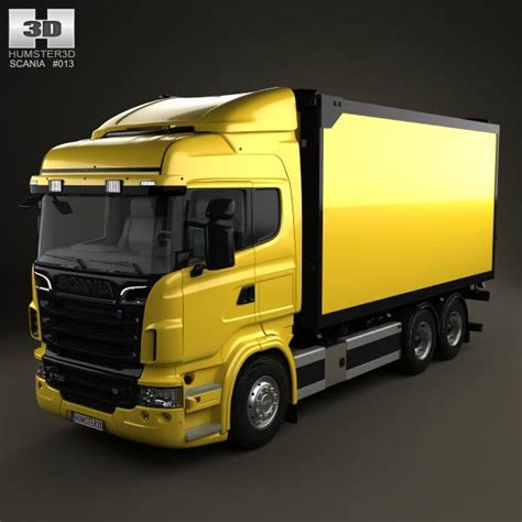 scania r 730 box truck 2010 3d model humster3d