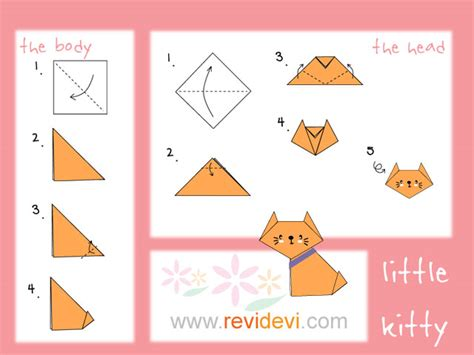Easy Origami Cat - how to make origami cat revidevi