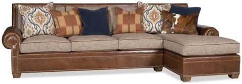 Sofa Leather And Fabric Combined Sectional Sofa In A Luxurious Combination Of Leather And Fabric