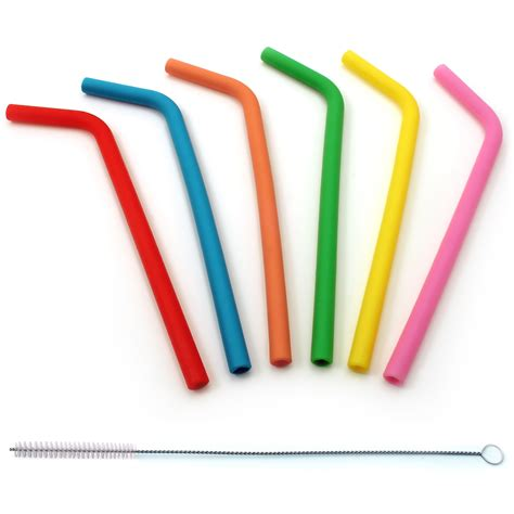 Poles Talenan Food Grade igadgitz home reusable 100 food grade bpa free soft silicone travel straws metal