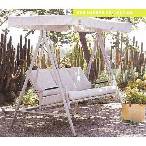 kmart patio swings kmart martha stewart victoria swing replacement canopy