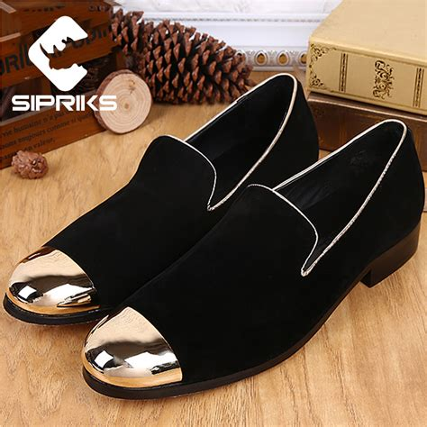 sipriks mens loafers metallic gold shoes cool mens