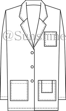 Apparel Lab Printed Maldives White lab coat 500 wo yo china manufacturer safety