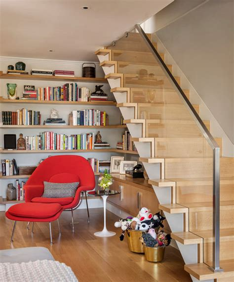under stairs library design 20 creative ideas to use the space your stairs hongkiat