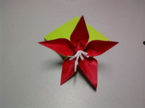 Origami Cut Outs - origami flower fleur de pantin 183 how to make an origami
