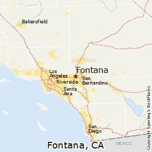 fontana california map best places to live in fontana california