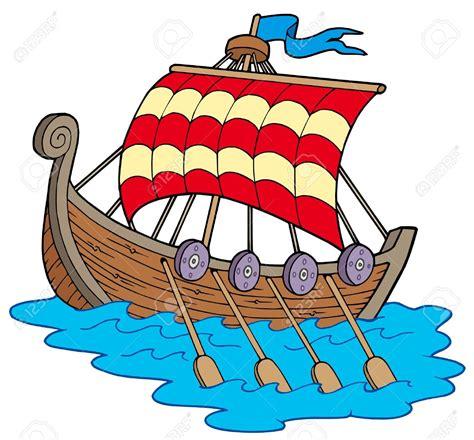 viking boats cartoon barco vikingo fondo blanco ilustraci 243 n vectorial