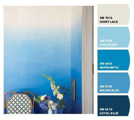 blue ombre / paint colors by sherwin williams / sw ivory