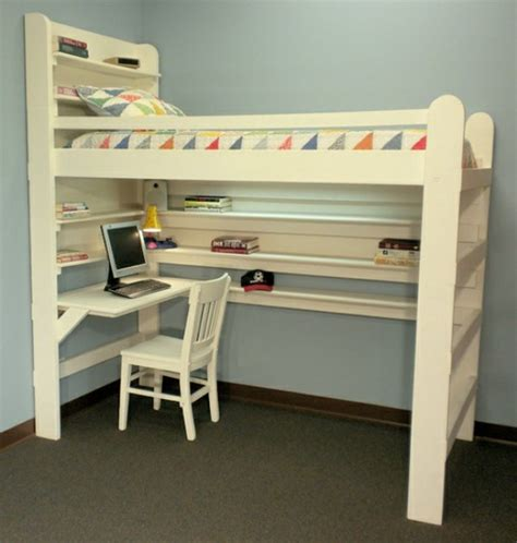 20 Loft Beds With Desks To Save Kid S Room Space Kidsomania Loft Bed With Desk Plans