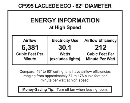 emerson laclede eco ceiling emerson cf995 laclede eco indoor ceiling fan