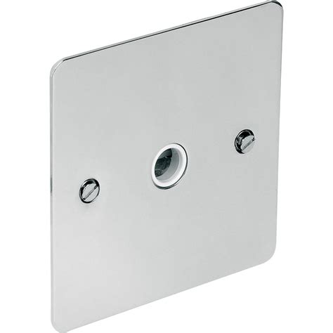 Bathroom Flex Outlet Plate Flat Plate Polished Chrome 20a Flex Outlet Plate 20
