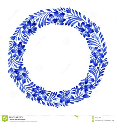 floral circle stock vector image 45013347