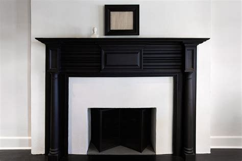 black and white fireplace black fireplace mantel transitional living room