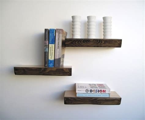 moderne regale bark floating shelf modern display and wall shelves