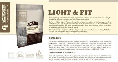 acana light fit dry dog acana light and fit pancreatitis iron blog