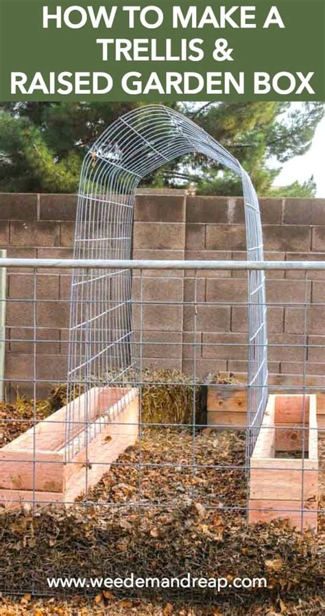 how to build a trellis how to make a trellis raised garden box combo