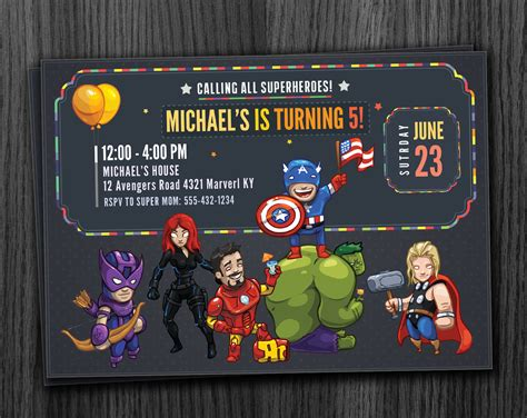printable birthday card avengers avengers invitation birthday printable download