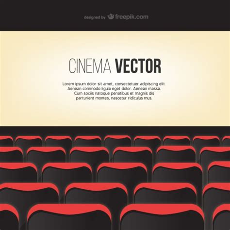 theater template cinema screen template vector free