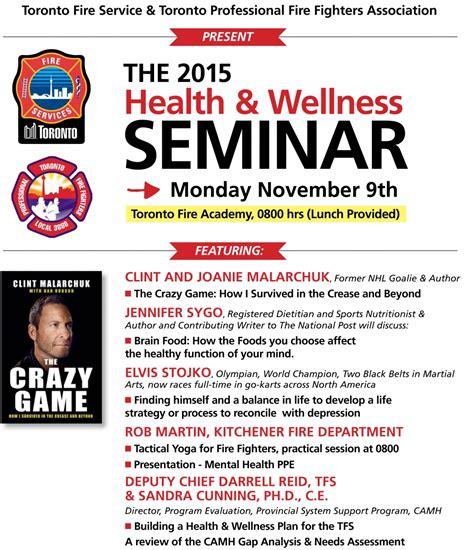 Health Seminar by 2015 Health And Wellness Seminar Ontario Association Of