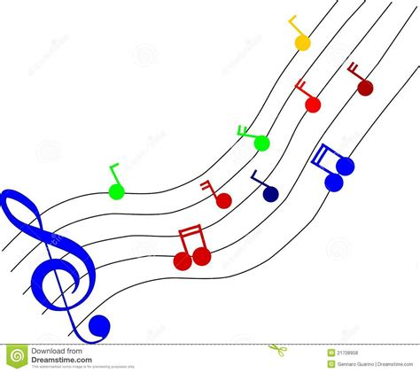 clipart musicali coloured notes stock vector illustration of