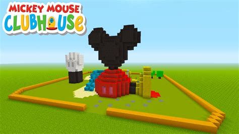 mickey mouse house club minecraft tutorial how to make mickey mouses club house quot mickey mouse clubhouse
