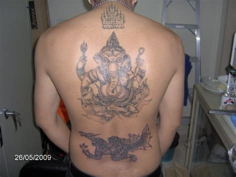 thai ganesh tattoo sak yant thai temple tattoos ganesh majchanu