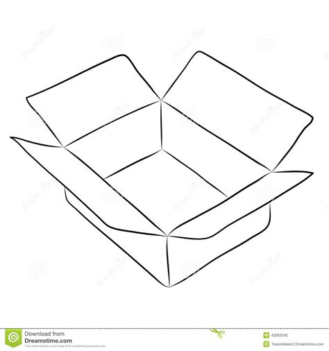 when i doodle i draw boxes drawing of box stock vector image 43063340