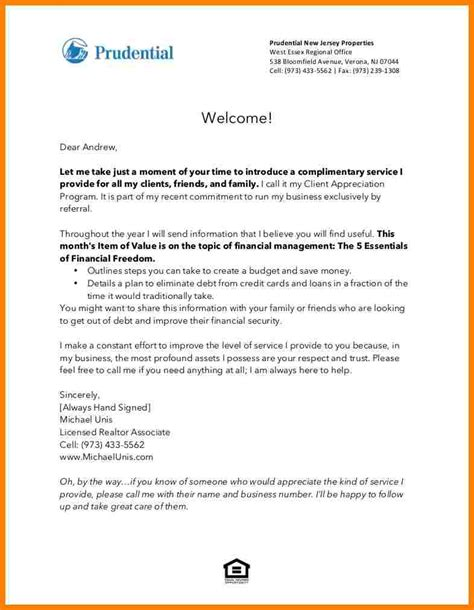 introduction letter to clients template new client welcome letter template ideal vistalist co