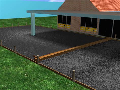 poured concrete patio how to pour a concrete patio with pictures wikihow