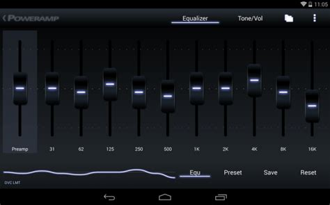 10 band equalizer for android power android tablet app screenshot