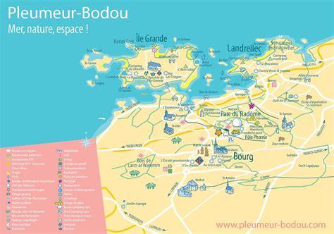 Carte De by Cartes De Pleumeur Bodou Pleumeur Bodou Tourisme