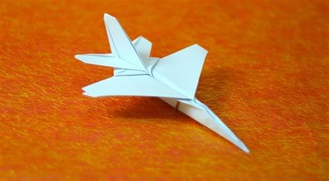 Origami Fighter Jet - f 16 paper airplane templates crafts