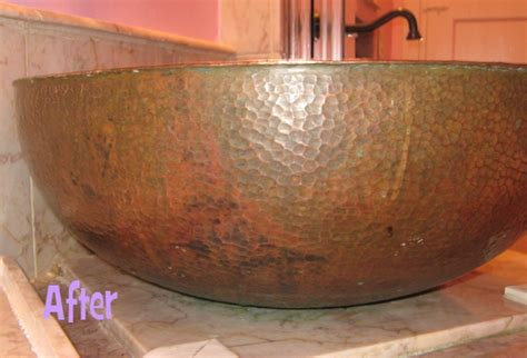 what to clean copper sink with cleaning my copper sink before after photos contest