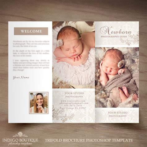 photography brochure templates free newborn photography trifold brochure template client