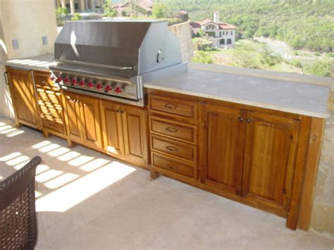 teak outdoor kitchen cabinets outdoor kitchens edgewood cabinetry