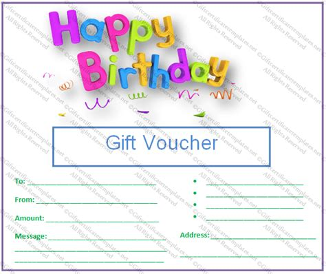 design a gift certificate template free customizable gift