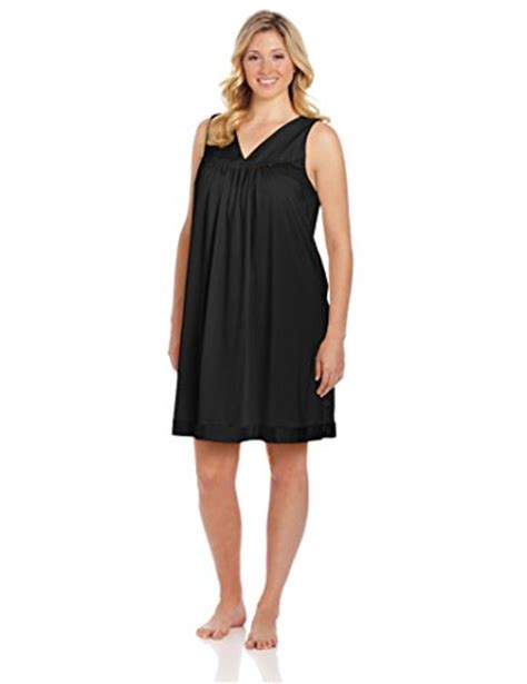 Vanity Fair Gowns Plus Size by Vanity Fair S Plus Size Coloratura Sleepwear Gown 30807 Midnight Black 3x Large