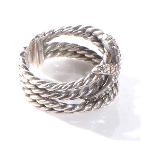 david yurman sterling silver x crossover ring 6 52456