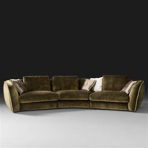 Curve Sofas Curved Designer Velvet Modular Sofa