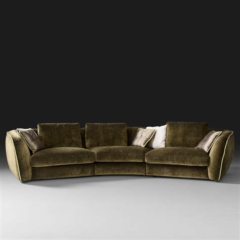 curved couch curve sofas italian curved sofa at 1stdibs custom curved shape sofa avelle 232 fabric